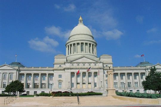 The Arkansas State Capitol building