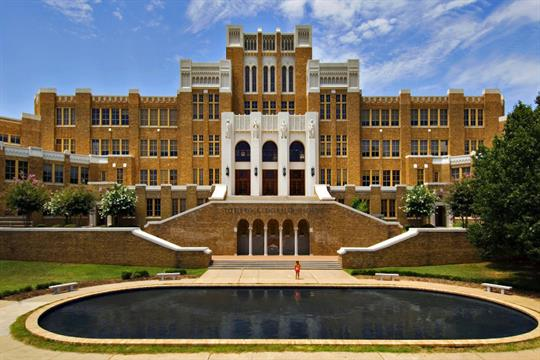 Little Rock Central High School is a national historic site located in downtown Little Rock, Arkansas