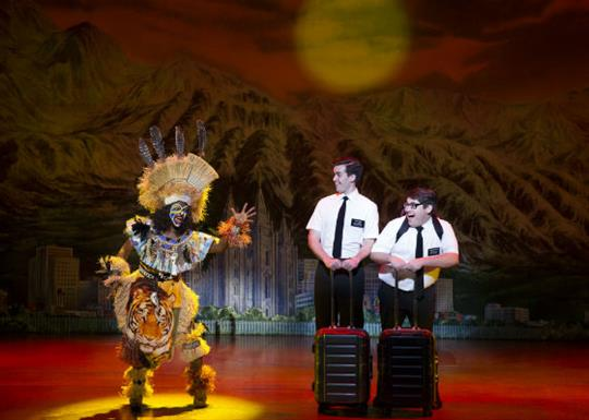 Celebrity Attractions-book of mormon-elders and tribesman-560x400