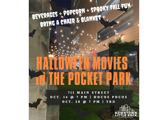 Downtown Little Rock Partnership presents free Halloween movies in the Main Street Pocket Park