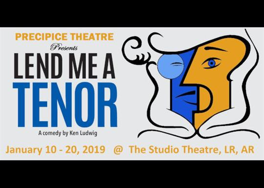 Precipice Theatre presents Lend Me a Tenor, a comedy by Ken Ludwig