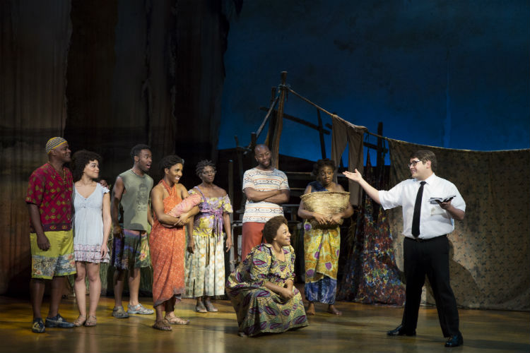 Celebrity Attractions-book of mormon-elder cunningham and villagers-750x500