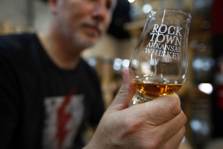 Rock Town-Arkansas Whiskey in hand